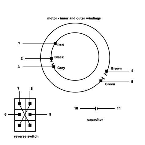 ceiling fan motor wiring electrical wiring multispeed psc motor from ceiling fan