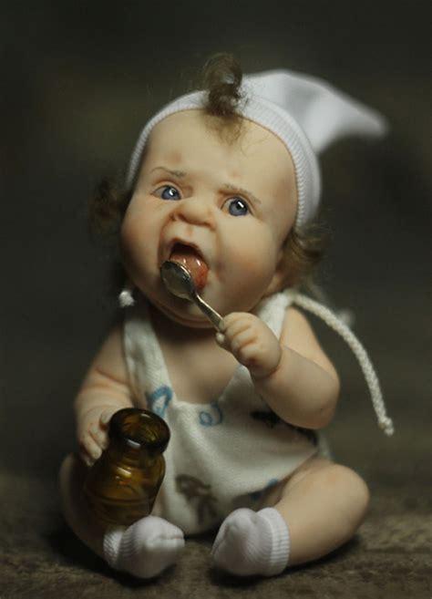 realistic baby dolls  russian artist elena kirilenko