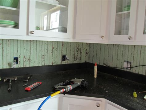 How To Install Beadboard Backsplash : Our Kitchen Backsplash Saga
