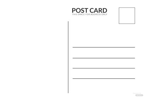 blank white index postcard template  adobe photoshop
