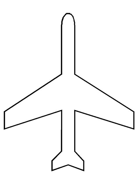 Airplane Cut Out Template Agreeable Airplane Template For Preschoolers Cut Out 28