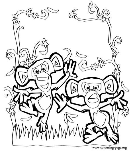 madagascar monkeys  madagascar coloring page