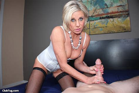 Sexy Milf Payton Hall Gives A Handjob In Stockings 1 Of 2