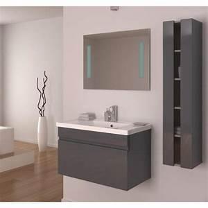Meuble salle de bain chene gris inspirations et meuble de for Salle de bain design avec meuble salle de bain 60 cm castorama