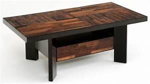 Reclaimed wood coffee table masculine coffee table for Rustic outdoor wood coffee table