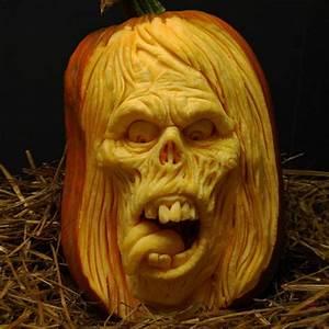Visage Citrouille Halloween : un travail d artiste les 7 du quebec ~ Nature-et-papiers.com Idées de Décoration