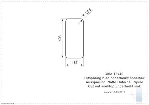 Ohio U 18/40 integrētā virtuves izlietne | Vannupasaule.lv