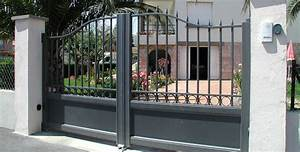 Portail En Aluminium : portail traditionnel alu portail alu battant 4m ~ Melissatoandfro.com Idées de Décoration