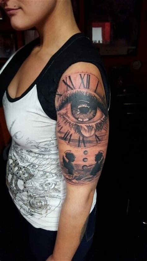 crying eye  clock tattoos ive  pinterest