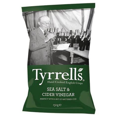 sea salt  cider vinegar potato crisps    tyrrells