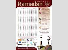 London Ramadan Fasting Calendar 2019