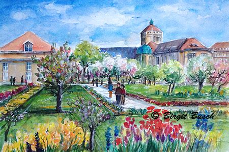Wohnungen Alter Botanischer Garten München by Aquarell Botanischer Garten M 252 Nchen Munich Botanic Garden