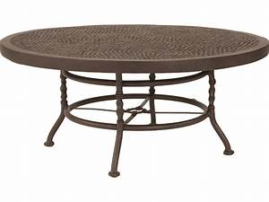 castelle veranda cast aluminum 42 44 round coffee table With round or rectangle coffee table