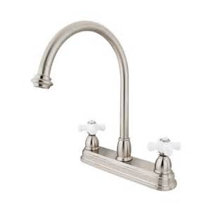 chicago kitchen faucets shop elements of design chicago satin nickel 2 handle high