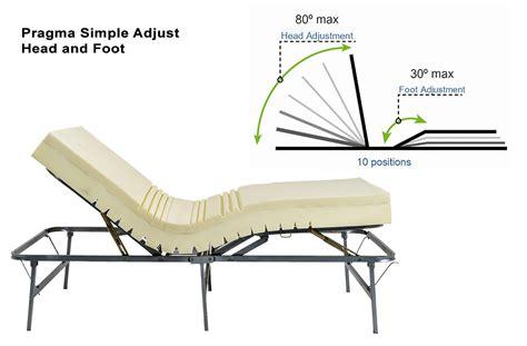 pragma bed frame pragma adjustable metal bed frame raises and