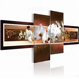 wandbilder xxl blumen orchidee abstrakt ornament leinwand With wandbilder 4 teilig