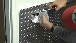 Part 1 - Installing aluminum diamond plate wall panels in