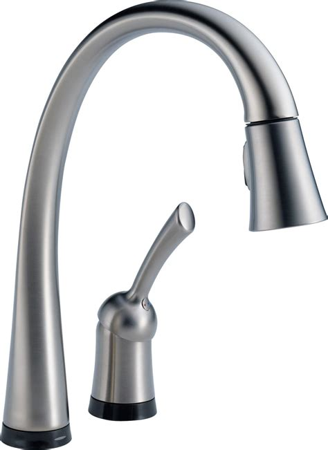 kohler touchless kitchen faucet delta 980t dst pilar single handle pull kitchen
