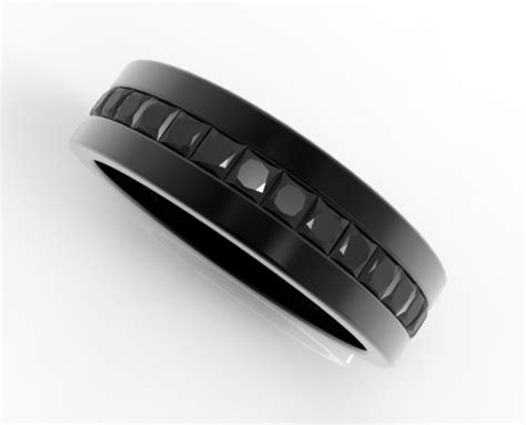 black diamond wedding band    black gold vidar