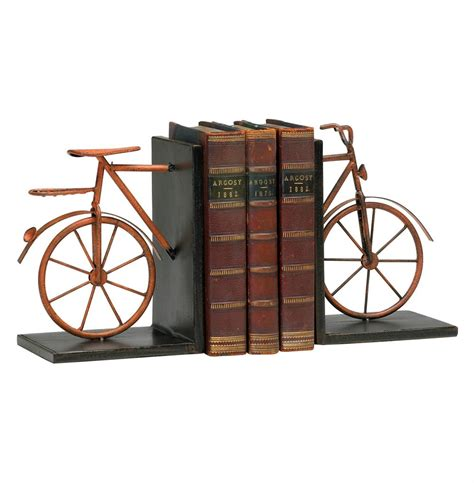 decorative bookends jj 10 13 antique rustic metal bicycle decorative bookends kathy kuo home