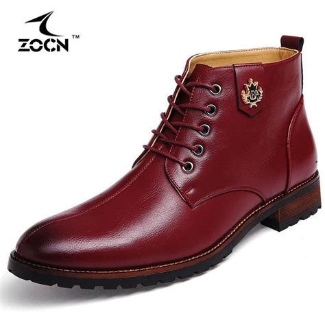 Zocn Men Boots Cow Split Leather Shoes Ankle