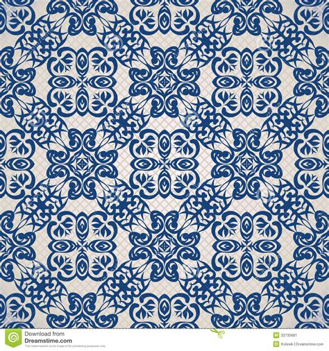 vintage seamless background  blue stock vector