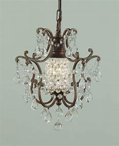 Feiss one light british bronze up mini chandelier