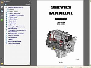 Liebherr Diesel Engines D934    D936 Service Manual Repair