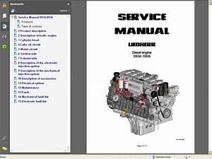 Liebherr Diesel Engines D934    D936 Service Manual Repair Manual Order  U0026 Download