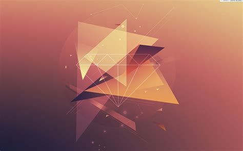Abstract Orange Shapes by Abstract Orange Diamonds Triangle Geometry Digital