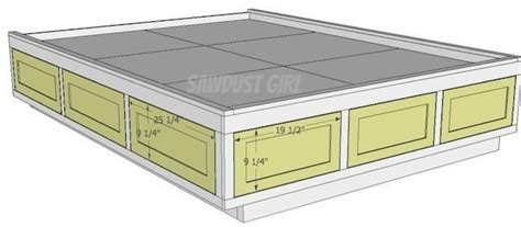 Queen Size Platform Bed Frame With Storage Drawers