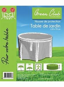 Housse De Jardin : housse de protection pour table de jardin ronde d 120 x h ~ Teatrodelosmanantiales.com Idées de Décoration