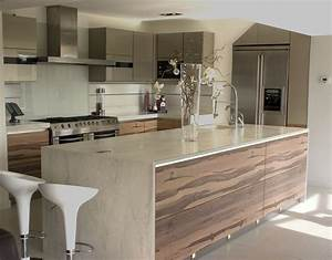 Brown Marble Countertop Neutral Kitchen Cabinets Gray