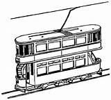 Train Coloring Tram Pages York Trains Clipart Printable Decker Double Outline Drawings Colouring 9d66 Cliparts Drawing Freight Toy Template Loader sketch template