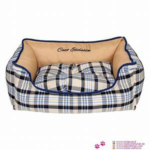 Panier Chien Design : panier amovible pour chien avec design cossais beige ~ Teatrodelosmanantiales.com Idées de Décoration