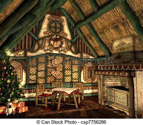 xmas cottage   small hut  christmas eve