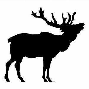 Elk Silhouette Drawing 01 Free Stock Photo - Public Domain ...