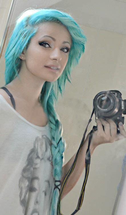 Turquoise Blue Braided Hair Make Up And Hair Ideas