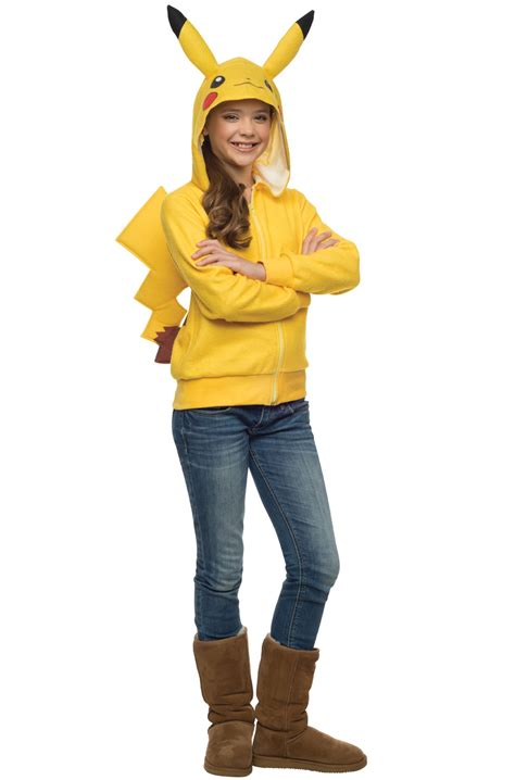 pikachu hoodie tween costume purecostumescom