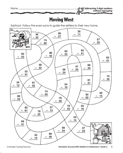 subtraction with regrouping coloring pages educational ideas math tutor waldorf math y