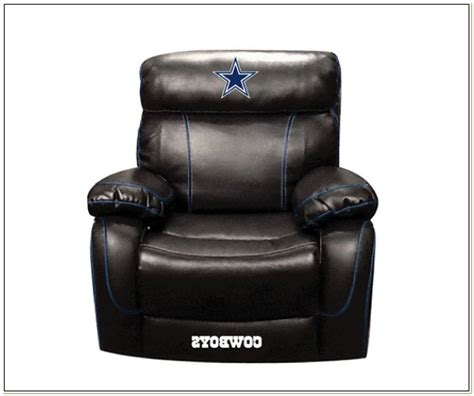 dallas cowboys leather recliner chair chairs home