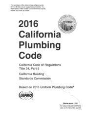 california plumbing code phcc nspc 2006 national standard plumbing code