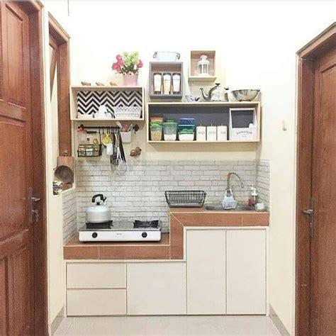 contoh model dapur minimalis sederhana lahan sempit foto