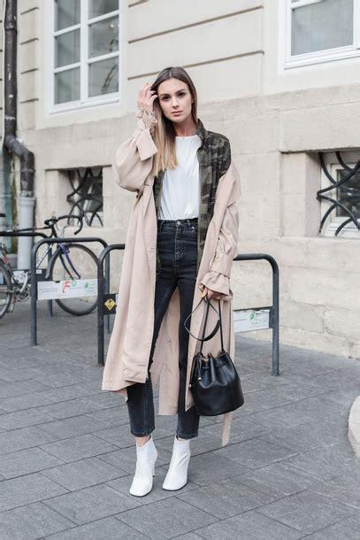 Coat Tumblr Trench Jacket Denim Jeans Black