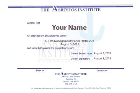california asbestos certification training asbestos