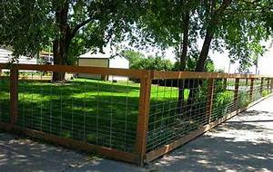 Fencing fence and fence ideas on pinterest for Easy dog fence ideas