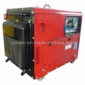 China 6kw Portable Silent Diesel Generator - China Air ...