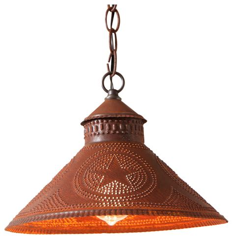 irvins country tinware stockbridge shade light pendant