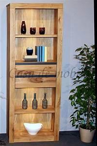 Bücherregal Mit Schubladen : standregal 71x190x35cm 2 schubladen 4 f cher zerreiche ~ Watch28wear.com Haus und Dekorationen
