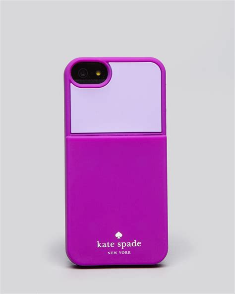 iphone 5 kate spade kate spade iphone 5 colorblock pocket in purple baja